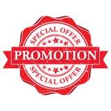 bevordering Speciale aanbieding - bedrijfs voor het drukken geschikte zegel Stock Foto