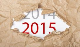 Bevorstehendes neues Jahr 2015 stockbild
