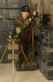 Beväpnad stridsoldat Royaltyfri Fotografi