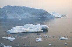 Bevriest en ijsbergen van polaire gebieden van Aarde Royalty-vrije Stock Afbeeldingen