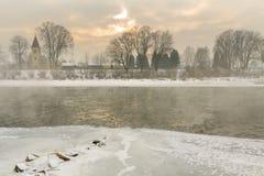 Bevriezende rivier Stock Afbeelding