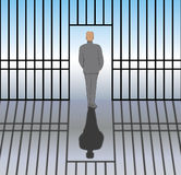 Bevrijd van Gevangenis Royalty-vrije Stock Foto