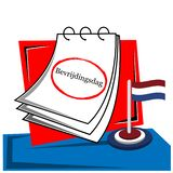 Bevrijdingsdag with reminder paper stock vector. EPS file available. see more images related royalty free illustration
