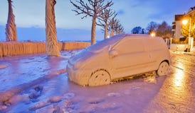 Bevroren Auto Royalty-vrije Stock Fotografie