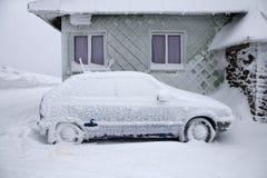 Bevroren auto Stock Foto's