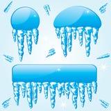 Bevroren bannesr Stock Fotografie
