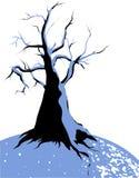 Bevroren boom op de winter royalty-vrije illustratie