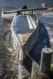 Bevroren boot Stock Afbeelding