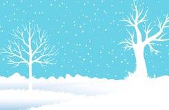 Bevroren bos vector illustratie
