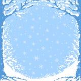 Bevroren bos royalty-vrije illustratie