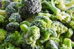 Bevroren broccoliachtergrond van de koelkast Stock Foto