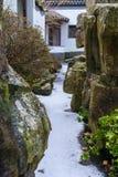 Bevroren canion in Aziatische tuin Stock Foto
