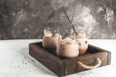 bevroren chocoladedrank stock afbeeldingen