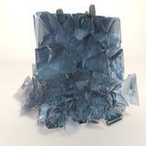 Bevroren cijfer - brekend ijsblokje Royalty-vrije Stock Foto