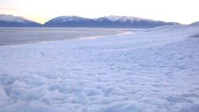 Bevroren de Draaischot van Utah Meer stock video