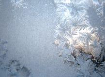 Bevroren de wintervenster royalty-vrije stock afbeelding
