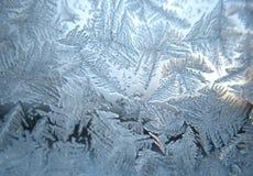 Bevroren de wintervenster royalty-vrije stock afbeeldingen