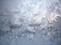 Bevroren de wintervenster stock foto