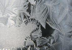 Bevroren de wintervenster Royalty-vrije Stock Foto's