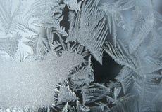 Bevroren de wintervenster Stock Foto's