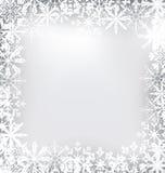 Bevroren die Kader van Sneeuwvlokken voor Vrolijk wordt gemaakt Royalty-vrije Stock Foto's