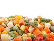 Bevroren diverse groenten Stock Afbeeldingen