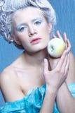 Bevroren fee met appel Stock Afbeeldingen