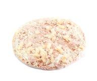 Bevroren geïsoleerde pizza Stock Foto