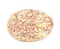Bevroren geïsoleerde pizza Royalty-vrije Stock Afbeelding