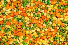 Bevroren gedobbelde groentenachtergrond Royalty-vrije Stock Foto