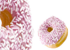 Bevroren gekleurd donuts Royalty-vrije Stock Afbeeldingen