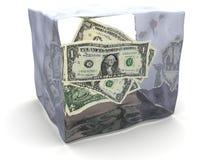 Bevroren geld vector illustratie
