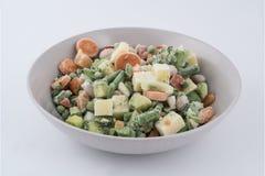 Bevroren gemengd groenten en water Royalty-vrije Stock Foto