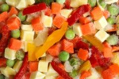 Bevroren gemengde groenten Stock Afbeeldingen