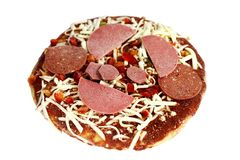 Bevroren Gemengde Pizza Royalty-vrije Stock Foto's