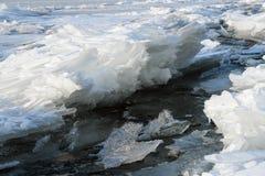 Bevroren getijde Royalty-vrije Stock Afbeeldingen