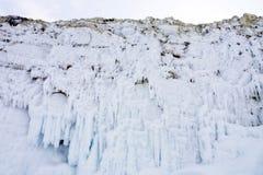 Bevroren Golven Stock Foto