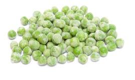 Bevroren groene erwten Stock Afbeelding