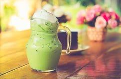 Bevroren groene thee Royalty-vrije Stock Foto