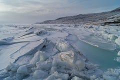 Bevroren Groenland Stock Afbeelding