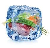 Bevroren groenten Royalty-vrije Stock Foto's