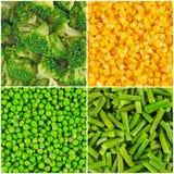 Bevroren groentenachtergronden royalty-vrije stock fotografie
