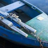 Bevroren het roeien boot Royalty-vrije Stock Afbeelding