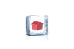 Bevroren huis. Stock Fotografie