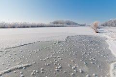 Bevroren kanaal Stock Foto