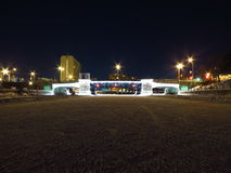 Bevroren Kanaalbrug Royalty-vrije Stock Foto's