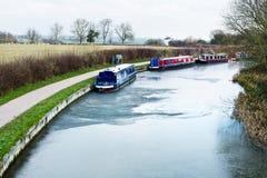Bevroren kanaalwater Stock Afbeelding