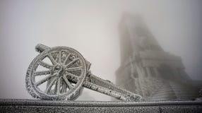 Bevroren kanon royalty-vrije stock fotografie