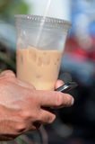 Bevroren Koffie & Tekst Stock Foto's