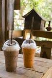Bevroren koffie en melkthee Royalty-vrije Stock Fotografie